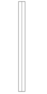 "1-3/4"" Poplar Craftsman Square Top Baluster - LJ5360"