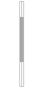 "LJF5060 Brazilian Cherry 1-1/4"" Fluted Square Top Craftsman Baluster"