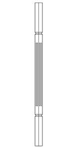 "1-1/4"" Cherry Square Top V-Groove Baluster LJF5060"