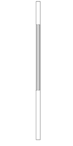 "LJF5070 Poplar 1-1/4"" Fluted Round Craftsman Taper Top Baluster"
