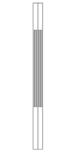 "LJF5360 Poplar 1-3/4"" Craftsman Square Top Baluster"