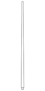 "1-1/8"" Red Oak Pin Top Baluster LJ-S-5040"