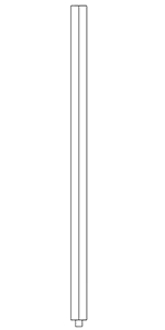 "1-1/4"" Cherry Square Top Baluster LJ-S-5060"