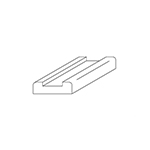 B6000S Maple Contemporary Shoe Rail
