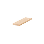 B6001S Red Oak Contemporary Shoe Rail