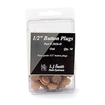 "LJ Smith 1/2"" Button Plugs 50 Pack"