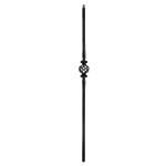 "L.J. Smith 9/16"" Solid Iron Square Baluster LI-16044, Oil Rubbed Bronze"