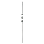 "L.J. Smith 1/2"" Iron Square Baluster  LI-1RIB44, Matte Black"