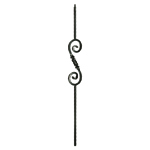 "L.J. Smith 9/16"" Solid Iron Square Balusters LI-33044, Oil Rubbed Bronze"