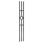 "L.J. Smith 1/2"" Iron Square Baluster LI-41144, Satin Black"