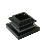 "L.J. Smith 3/4"" Aluminum Square Mega Flat Shoe No Set Screw LI-ALMGFSH08, Oil Rubbed Bronze"