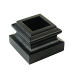 "L.J. Smith 3/4"" Aluminum Square Mega Flat Shoe With Set Screw LI-ALMGM08, Matte Black"