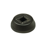 "L.J. Smith 9/16"" Aluminum Square Baluster Round Base Shoe LI-ALRD201, Matte Black"