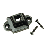 "L.J. Smith 1/2"" Aluminum Square Flat Shoe With Screw Down LI-ALSCRO5, Oil Rubbed Bronze"