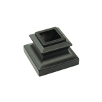 "L.J. Smith 9/16"" Iron Square Flat Shoe No Set Screw LI-H03, Matte Black"