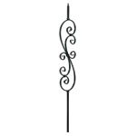 "L.J.Smith 1/2"" Hollow Iron Square Baluster LIH-HOL30144, Oil Rubbed Bronze"