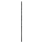"L.J. Smith 1/2"" Hollow Iron Square Kneewall Baluster LIH-KW2TW44, Oil Rubbed Copper"