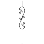 "1/2"" x 44"" Hollow Iron Baluster in Matte Black"