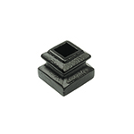 "L.J. Smith 1/2"" Iron Square Flat Shoe With Set Screw LI-M06, Matte Black"