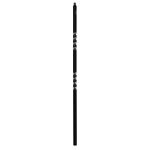 "L.J. Smith 3/4"" Hollow Iron Square Balusters LIH-MG2TW44, Matte Black"