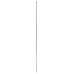 "L.J. Smith 1/2"" Solid Iron Square Baluster LI-PLA44, Satin Black"