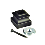 "L.J. Smith 9/16"" Aluminum Threaded Base Collar With Threaded Disk LI-PROCOL, Oil Rubbed Bronze"