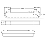 Poplar 8315 Double-End Bullnose Starting Step & Riser