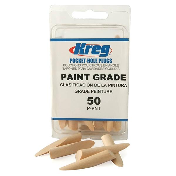 50 Count Kreg P-PNT Paint Grade Plugs for Pockets