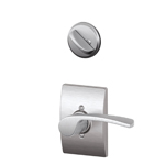 Schlage Merano Satin Chrome Keyed Interior Entrance Lock Set LH Lever