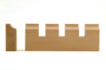Maple Dentil Moulding B009