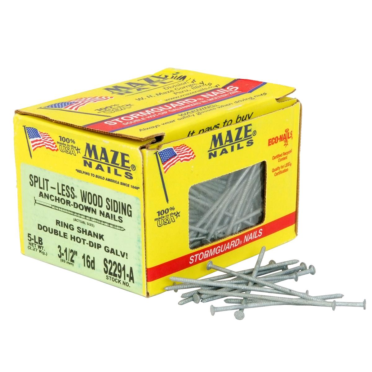 Maze Split Less 3 1 2 Quot Wood Siding Nails 5lb Box