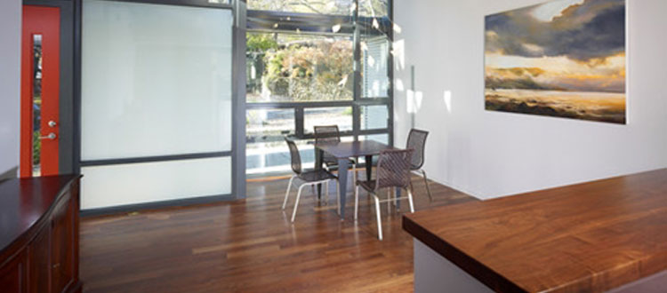 Baird Modern Dining Room Hardwood Floors