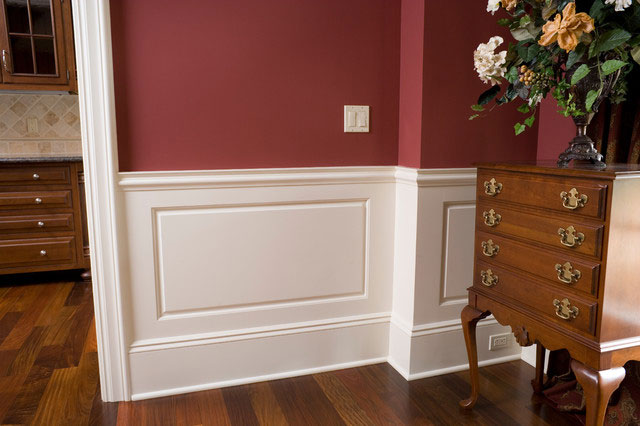 Raised Panel Wainscote Traditional Hall Other Metro Baird Brothers