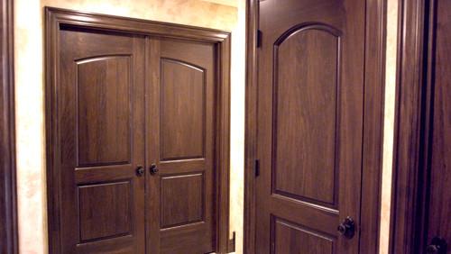 Baird Brothers\u0027 two panel continental closet & Stunning interior design hinges on fine hardwood doors