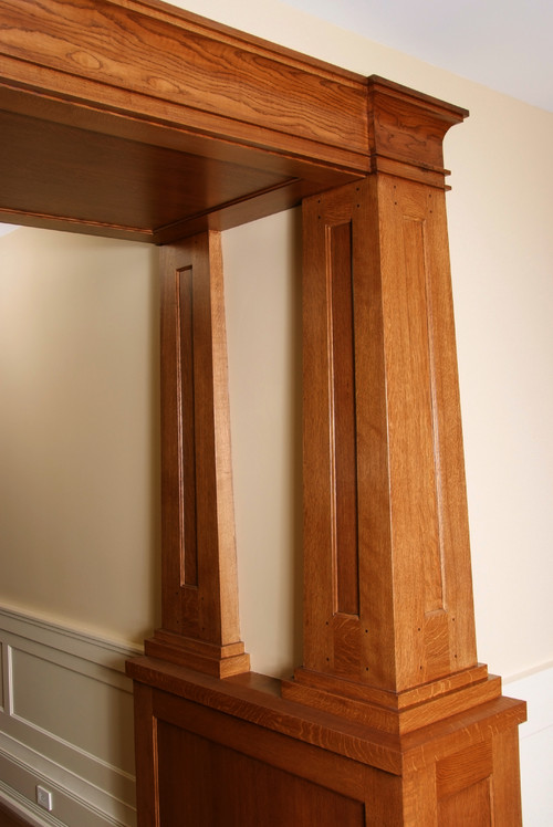 Hardwood takes center stage in craftsman design Craftsman columns