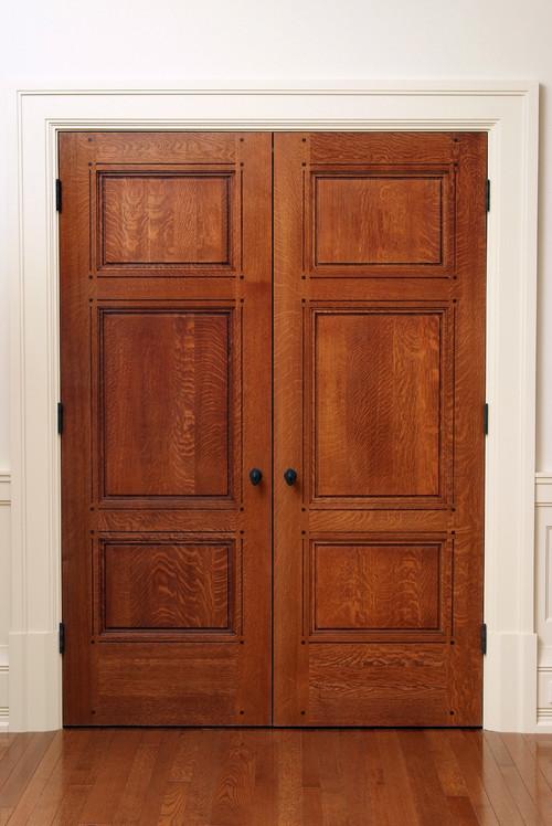 Hardwood takes center stage in craftsman design Craftsman style wood interior doors