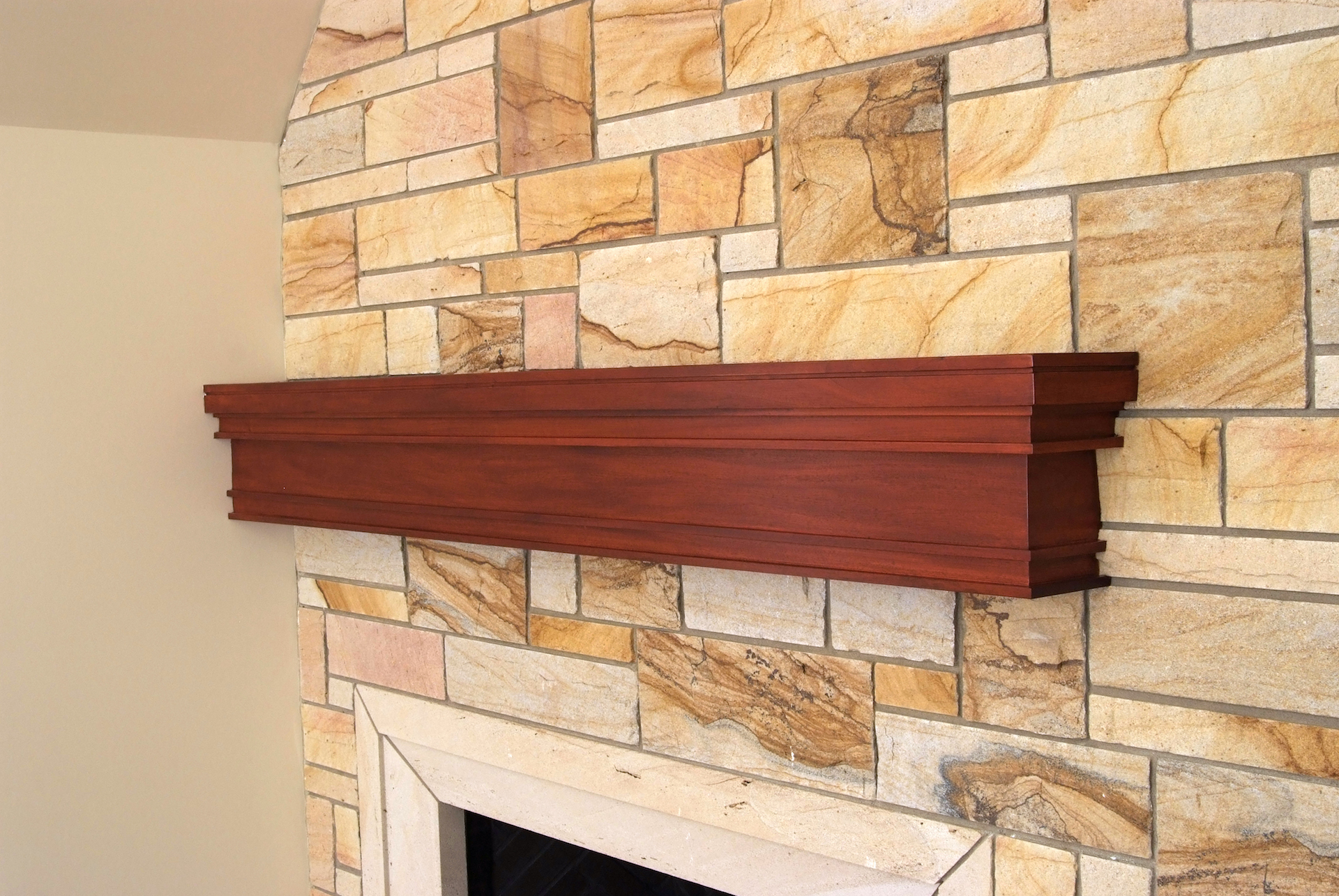 Custom Mahogany Mantle